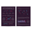 investment report with various infographics vector image vector image
