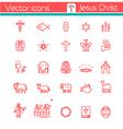 Jesus Icon vector image vector image