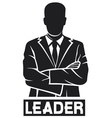 leader-successful businessman vector image vector image