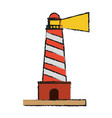lighthouse beach symbol vector image vector image