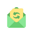 mail symbol envelope icon refresh envelope vector image