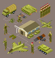 military base isometric concept vector image vector image