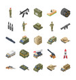 military special forces army icons pack vector image