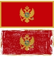 Montenegro grunge flag Grunge effect can be vector image vector image