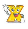 okay cartoon multiply of a delete sign vector image