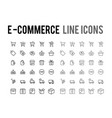 online shopping line icon - app and mobile web vector image