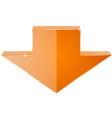 orange down arrow