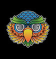 owl head tattoo flash vector image