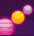planets space universe icon vector image vector image