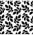 plant twigs with leaves seamless pattern vector image