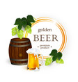 poster banner with beer symbols objects vector image vector image