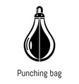 punching bag icon simple black style vector image vector image
