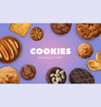 realistic cookies composition vector image vector image