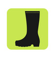 rubber boots protective shoes flat color icon or vector image