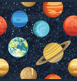 seamless pattern with solar system planets