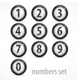 Set of numbers on white vector image vector image