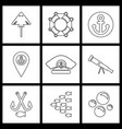 set sea icons vector image vector image