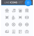 shopping - modern colorful icons set vector image