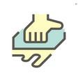 sponge rubbing and washing work icon design vector image