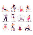 sport people young athletic woman fitness vector image vector image