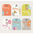 Spring floral gift tag design with flowers vector image vector image
