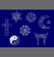 symbols of religion vector image