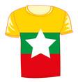 t-shirt flag miyanma vector image vector image