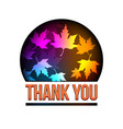 thank you autumn leaves globe you vector image vector image