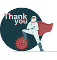 thank you to healh care workers vector image vector image