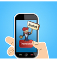 Translation app vector image