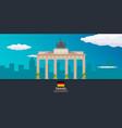 travel to germany brandenburg gate vector image vector image