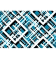 Trendy Blue Geometric Seamless Pattern vector image