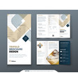 tri fold brochure design with square shapes vector image vector image