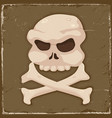 vintage skull and cross bones vector image vector image