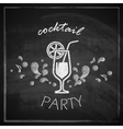 vintage with cocktail on blackboard background vector image vector image