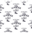 wanderlust adventure seamless pattern with trees vector image vector image