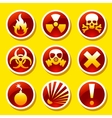 Warning stickers vector image vector image