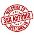 welcome to San Antonio vector image vector image
