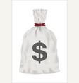 white money bag on white background vector image vector image