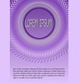 wireframe purple metallic decor on purple vector image vector image