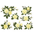 yellow rose boutonniere set vector image vector image