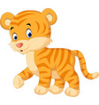 cute tiger cartoon vector image