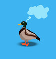 portrait of a cute duck vector image