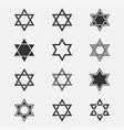 star of david set vector image