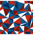 blue and red triangle seamless vector image