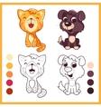 Cute little pets Cartoon characters vector image