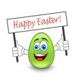 Egg emoticon vector image