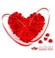 red rose petal heart vector image