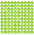 100 coin icons set green circle vector image vector image