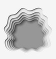 3d abstract paper cut gray background vector image vector image